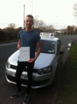 Joe Haslem passed with Clearway Driving School