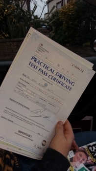 well done Kyle a great drive and 1st time pass unfortunately the profile picture was a little blurred Be safe