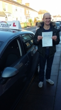 well done Fred a great 1st time pass Be safe