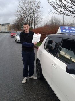 Well done Harry on passing your test best of luck for the future