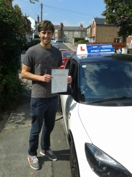 well done james pass 1st time Enjoy the new job and the lights of london