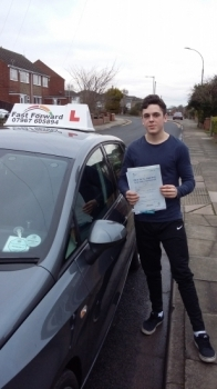a great effort today on passing test all your hard work paid off Be safe