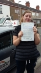 Gemma Sipson passed with Fast Forward Driving School