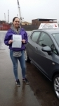 Helen 01 Feb 2017 passed with Fast Forward Driving School