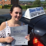 Shannon Brady passed with Steve Chaplin Driving School