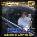 Claudia Cresswell passed with Steve Chaplin Driving School