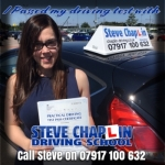 Anika Power passed with Steve Chaplin Driving School