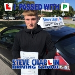 Tom Moloney passed with Steve Chaplin Driving School