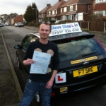 Adrian Hayes passed with Steve Chaplin Driving School