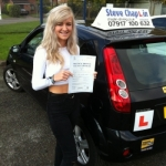 Aimee Hempshall passed with Steve Chaplin Driving School