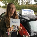 Alicia Draycott passed with Steve Chaplin Driving School