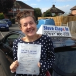 Amy Redfern passed with Steve Chaplin Driving School