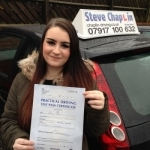 Amy Eleanor Scott passed with Steve Chaplin Driving School