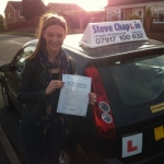 Annabelle Towndrow passed with Steve Chaplin Driving School