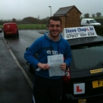 Ashley Fitzgerald passed with Steve Chaplin Driving School