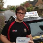 Ashton Alfred passed with Steve Chaplin Driving School