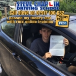 Ethan Bexon passed with Steve Chaplin Driving School