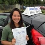 Berenice Hernandez passed with Steve Chaplin Driving School