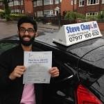 Bilal Khalil passed with Steve Chaplin Driving School