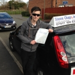 Brad Entwistle passed with Steve Chaplin Driving School