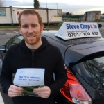 Callam Standen passed with Steve Chaplin Driving School