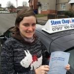 Charlotte Berwick passed with Steve Chaplin Driving School