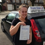 Charlotte Howard passed with Steve Chaplin Driving School