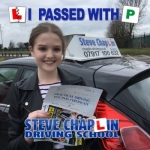 Charlotte Whetstone passed with Steve Chaplin Driving School