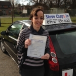 Cherelle Simpkin passed with Steve Chaplin Driving School