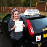 Chloe Whetstone passed with Steve Chaplin Driving School