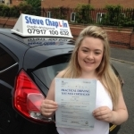 Ellie Griffiths passed with Steve Chaplin Driving School