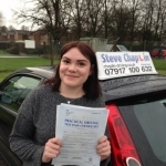 Emily Davis passed with Steve Chaplin Driving School