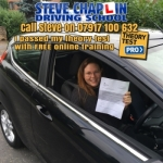 Emma Jesson passed with Steve Chaplin Driving School
