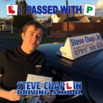 Greg Henshaw passed with Steve Chaplin Driving School