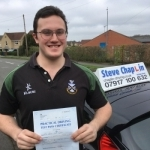 Harry Towers passed with Steve Chaplin Driving School