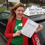 Helen Parrish passed with Steve Chaplin Driving School