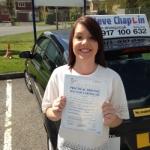 Jade Jackson passed with Steve Chaplin Driving School