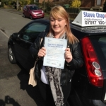 Jazmin Stone-Saunders passed with Steve Chaplin Driving School