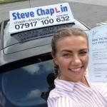 Jessica Poppy Heyman passed with Steve Chaplin Driving School