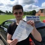Joe Booth passed with Steve Chaplin Driving School