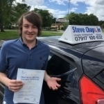 Josh Blackwell passed with Steve Chaplin Driving School