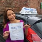 Joy Barwell passed with Steve Chaplin Driving School