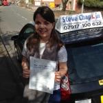 Katie Bloor passed with Steve Chaplin Driving School