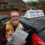 Katy Martin passed with Steve Chaplin Driving School