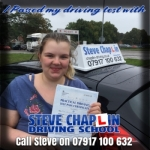 LATEST PASSER! passed with Steve Chaplin Driving School