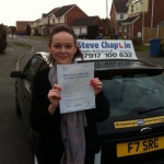 Kim Doubleday passed with Steve Chaplin Driving School
