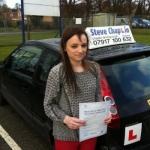 Laura Malpass passed with Steve Chaplin Driving School