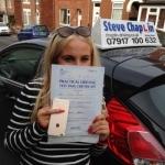 Lauren Wareham passed with Steve Chaplin Driving School