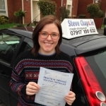 Layla Booth passed with Steve Chaplin Driving School