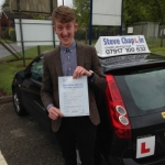 Liam Parker passed with Steve Chaplin Driving School